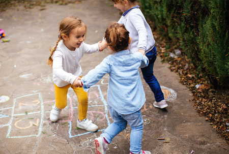 Ease parents' minds by showing happy kids at play