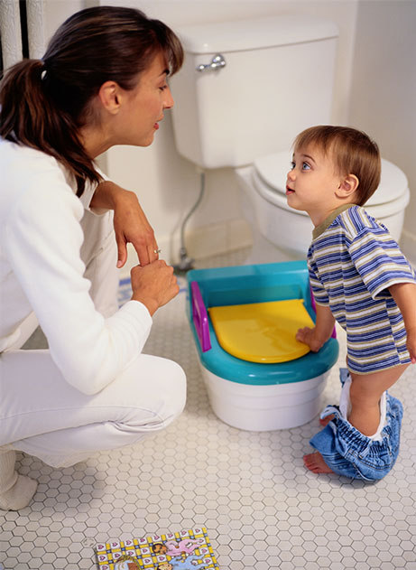 Communicating about potty time gets parents excited that you're reinforcing their goals